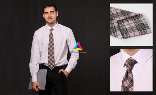 галстук в клеточку для мужчин